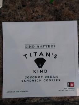Titan's Kind Coconut Cream Sandwich Cookie