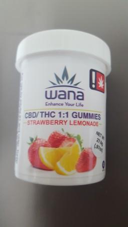 Wana Strawberry Lemonade 1:1 Gummies