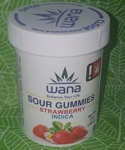 Wana - Strawberry Indica Sour Gummies