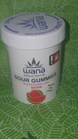 Wana - Sour Watermelon Gummies
